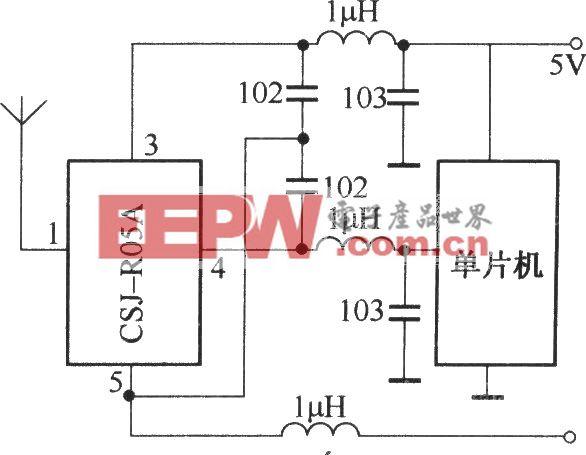 CSJ-R05A与单片机配合的应用电路