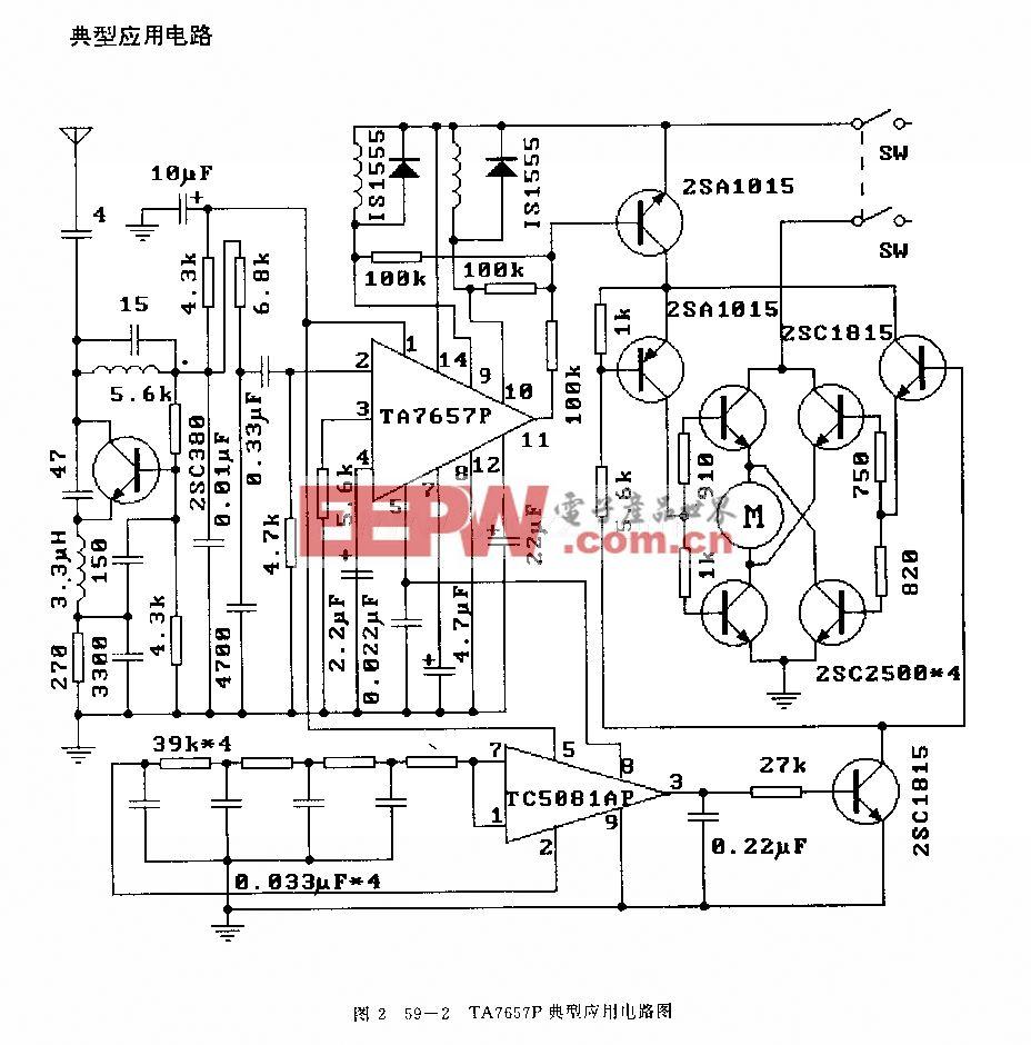 ta7657p(电子玩具)无线电遥控接收电路