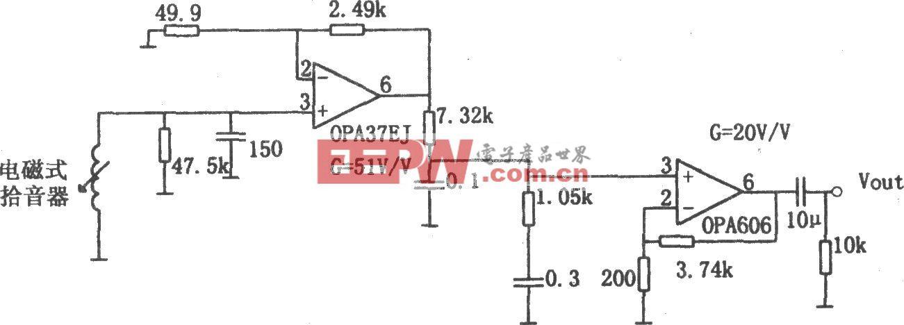 低噪声高保真RIA前置放大器(OPA606)