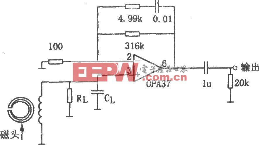 NAB磁头前置放大器(OPA37)