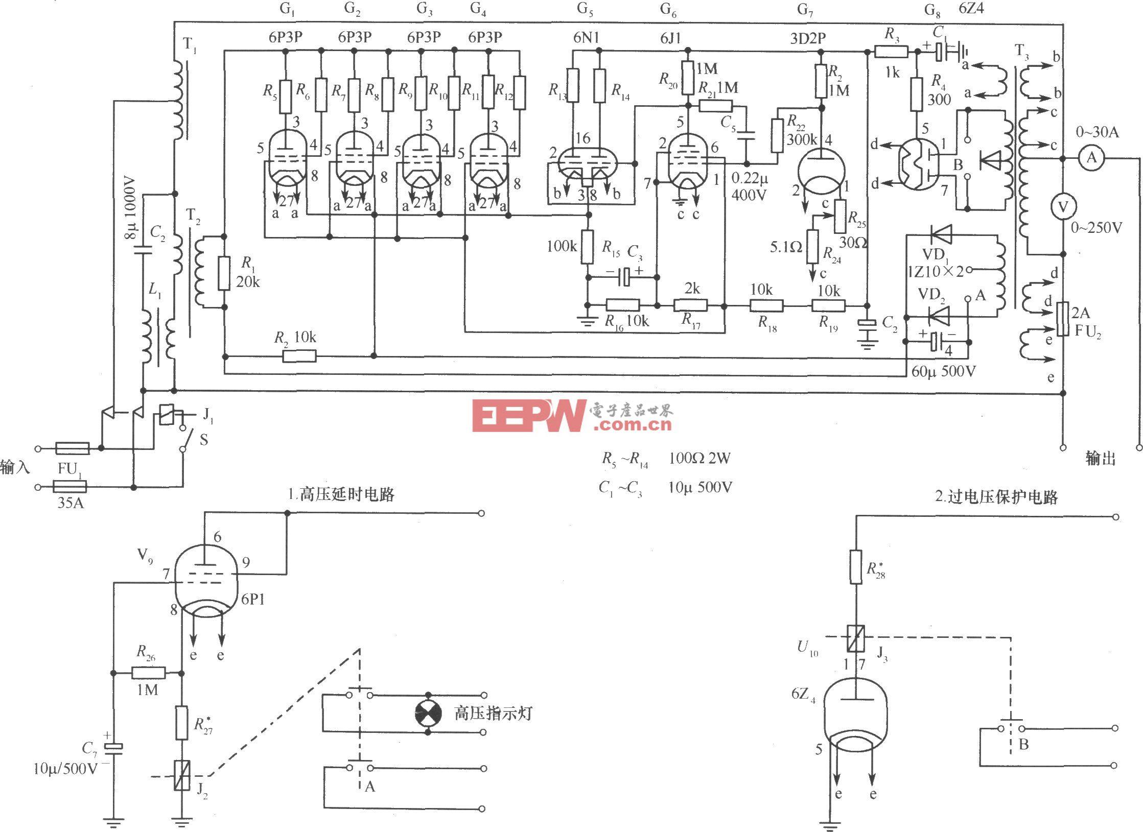 614-B2(3kVA)交流稳压器电路