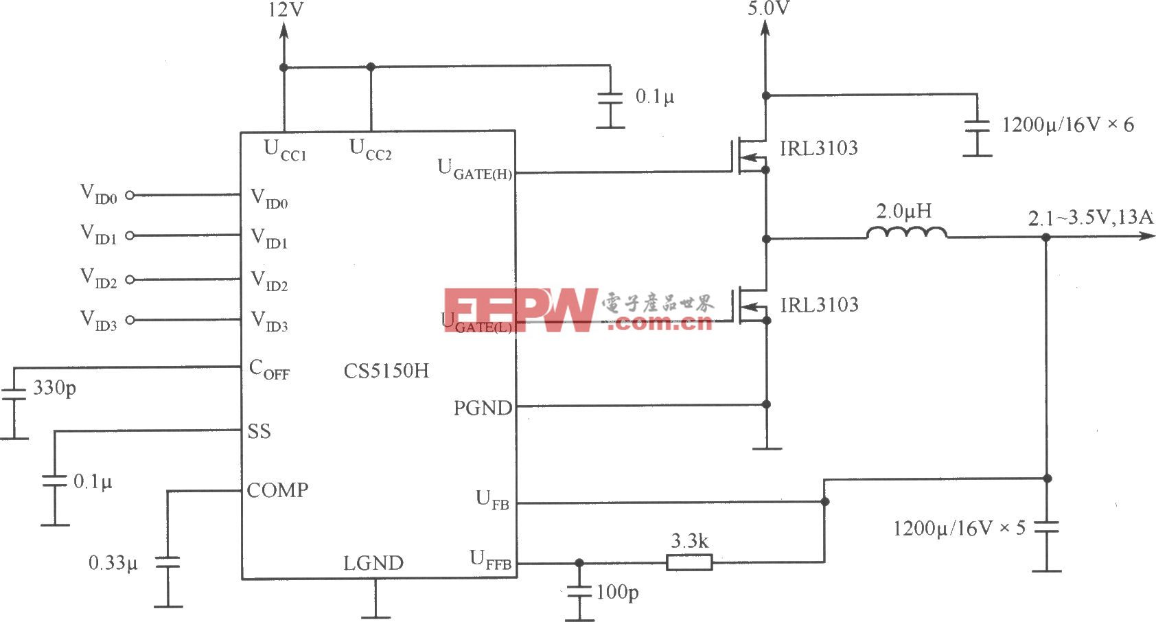 程控开关电源用于片心逻辑—Pentium Pro处理器