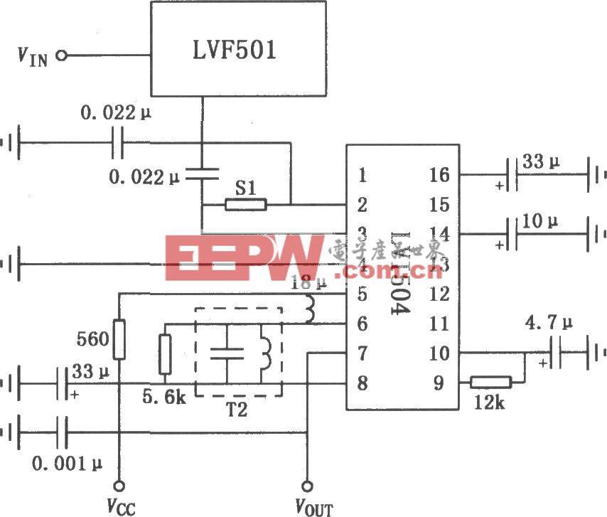 LVF501 FM收音机调谐器电路