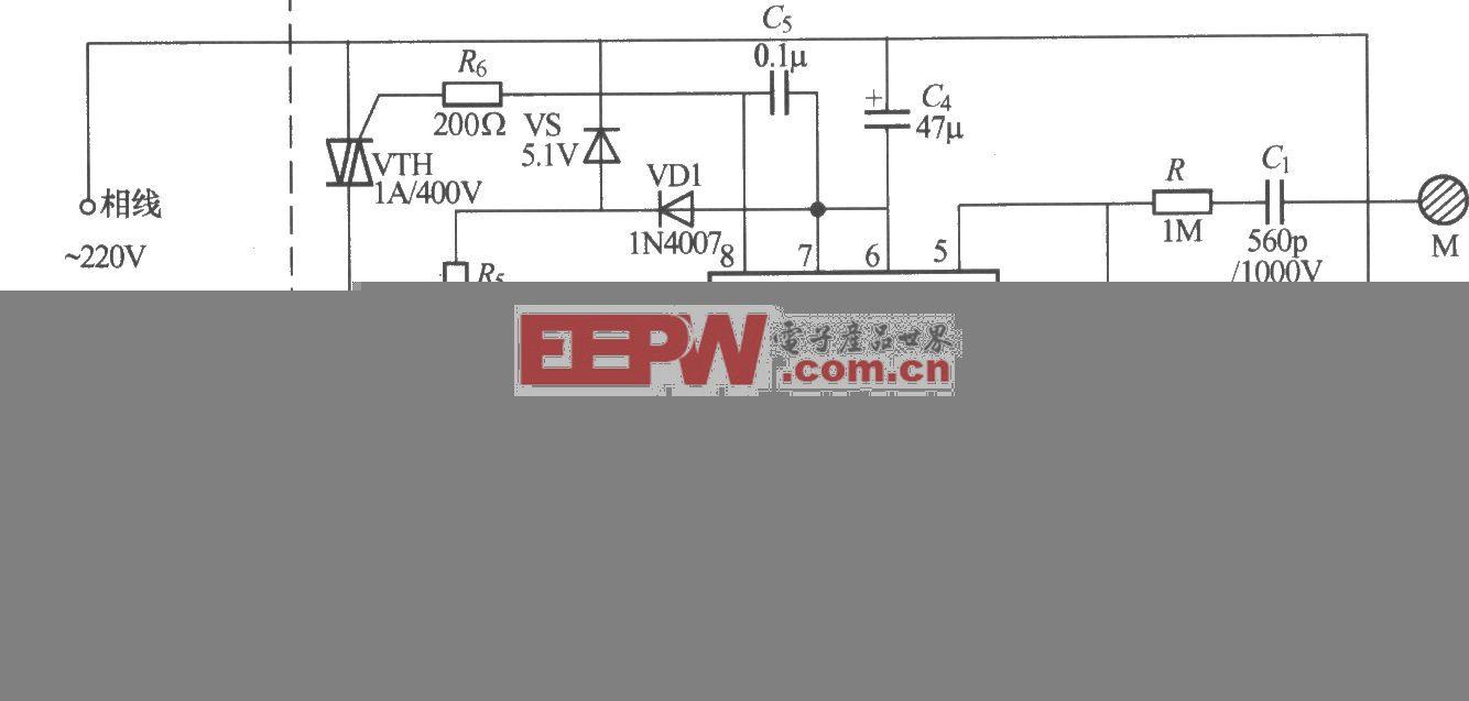 SS0614触摸式无级调光灯电路