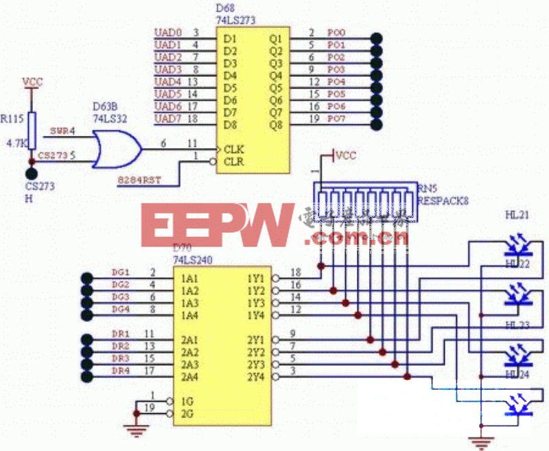 交通灯控制电路图