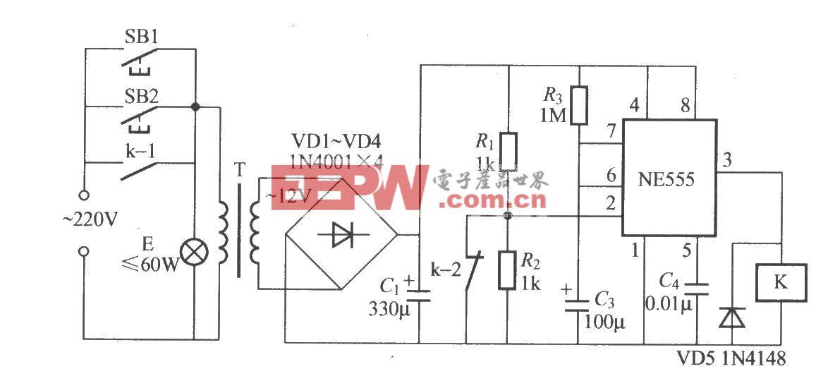 采用时基电路的延迟灯电路(2)