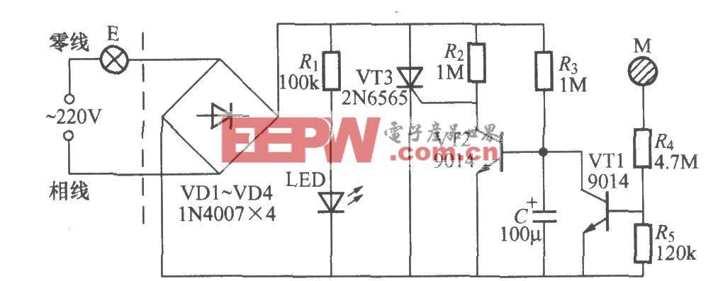 触摸式延迟灯开关电路(3)