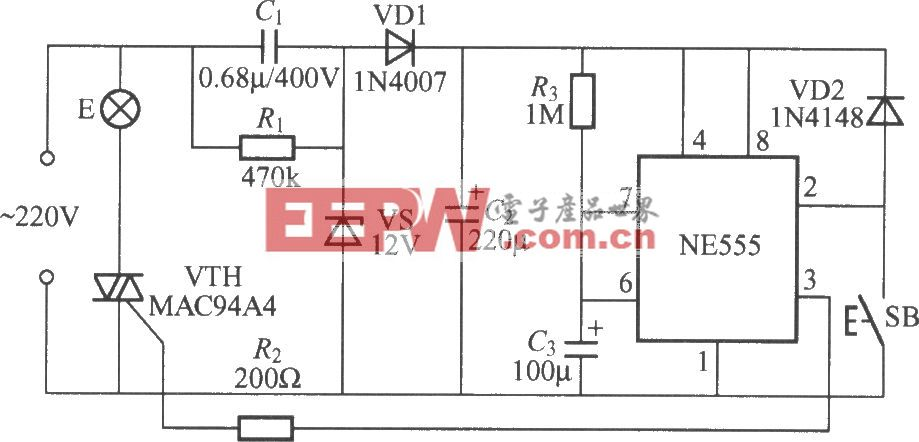 采用时基电路的延迟灯电路(3)