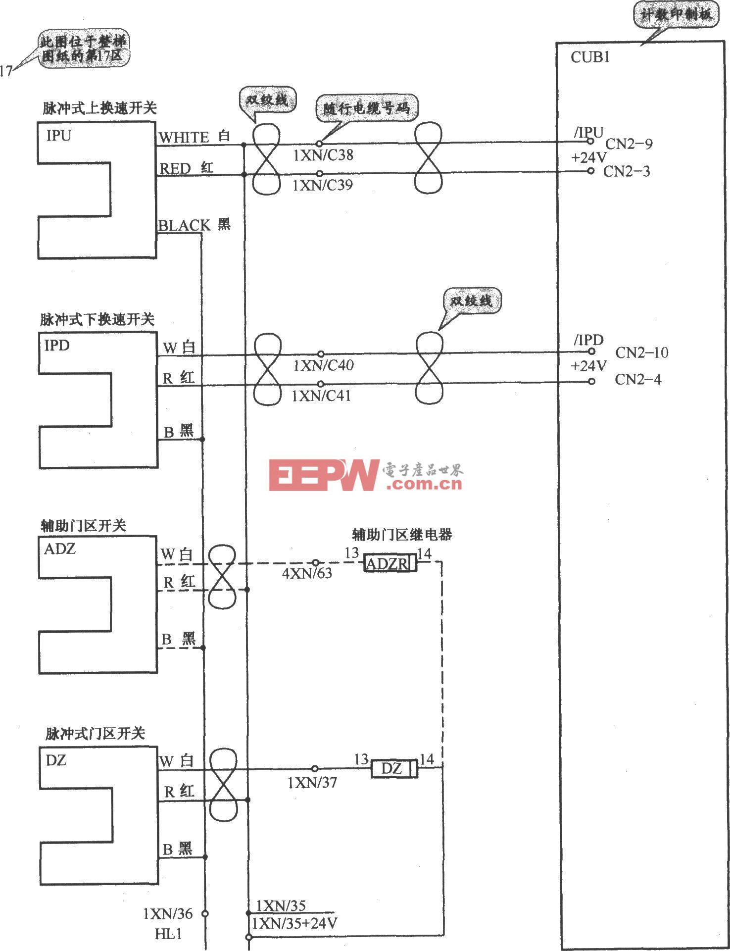 奥的斯TOEC-40电梯减速与门区开关电路