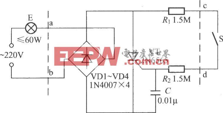 床頭燈安全開關電路(1)