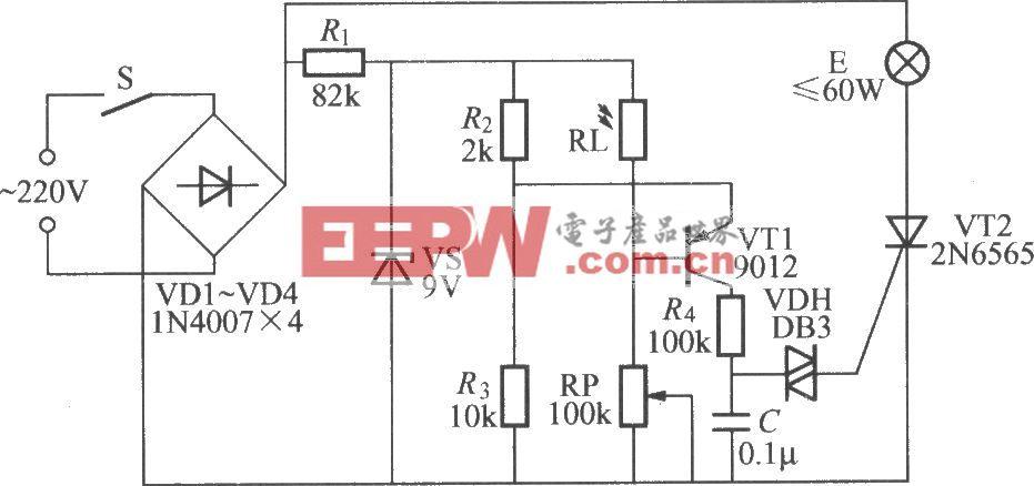 具有稳光功能的晶闸管调光灯电路(3)图片