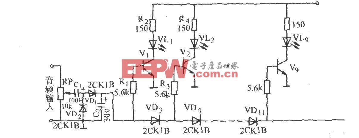 音频功率电平显示电路