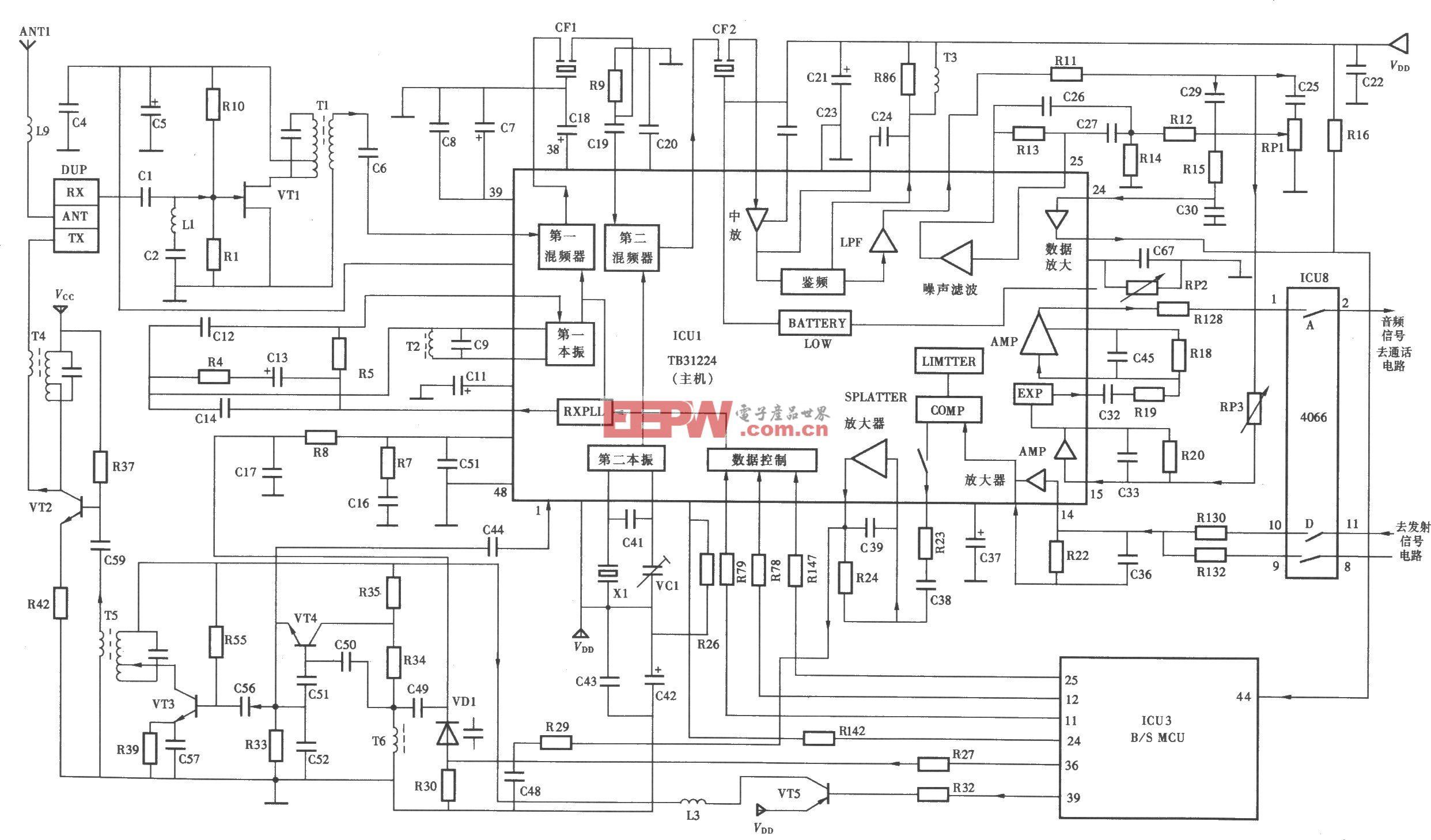天时达HW838(4)P/ISD—LED型无绳电话机主机射频电路