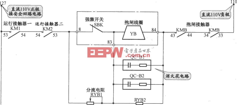 三菱SPVV(A)電梯抱閘電路