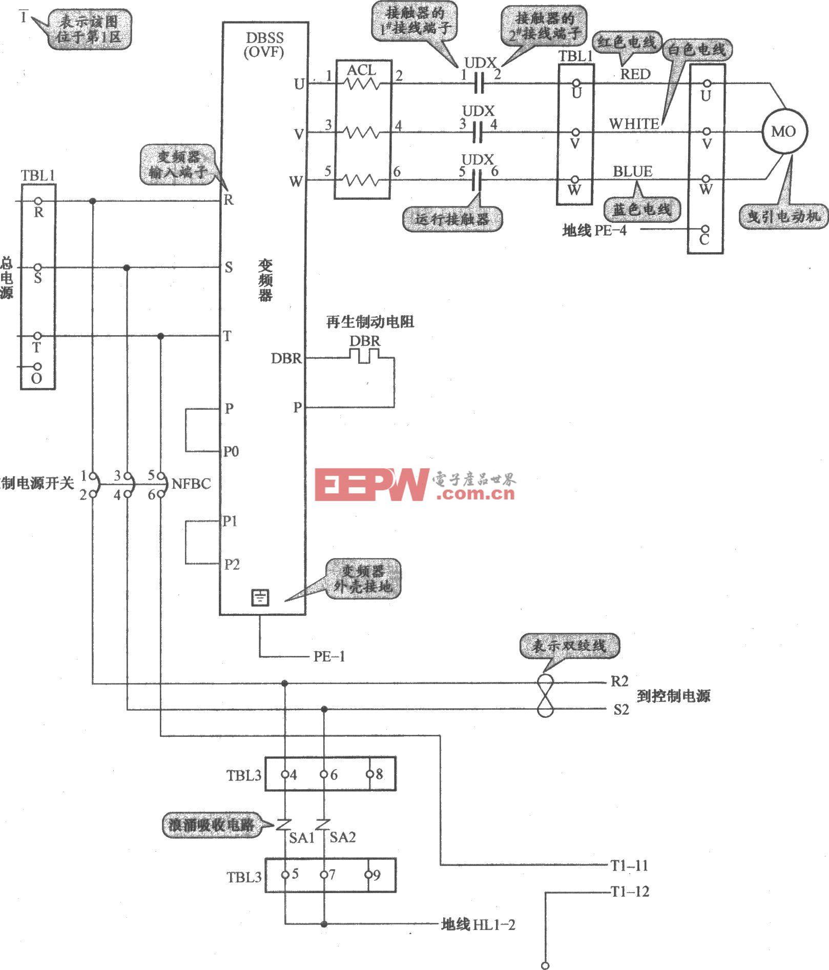 奥的斯TOEC-2000VF电梯主电路