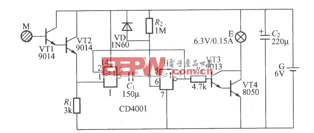 采用数字电路的触摸式延迟灯电路(5)