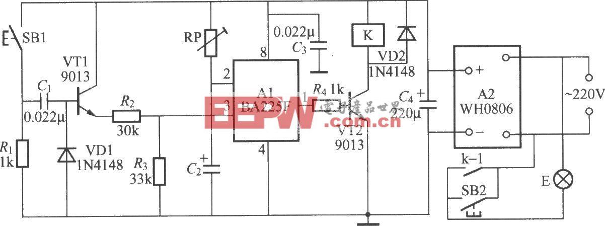 暗房曝光定时灯电路(2)(BA225F)