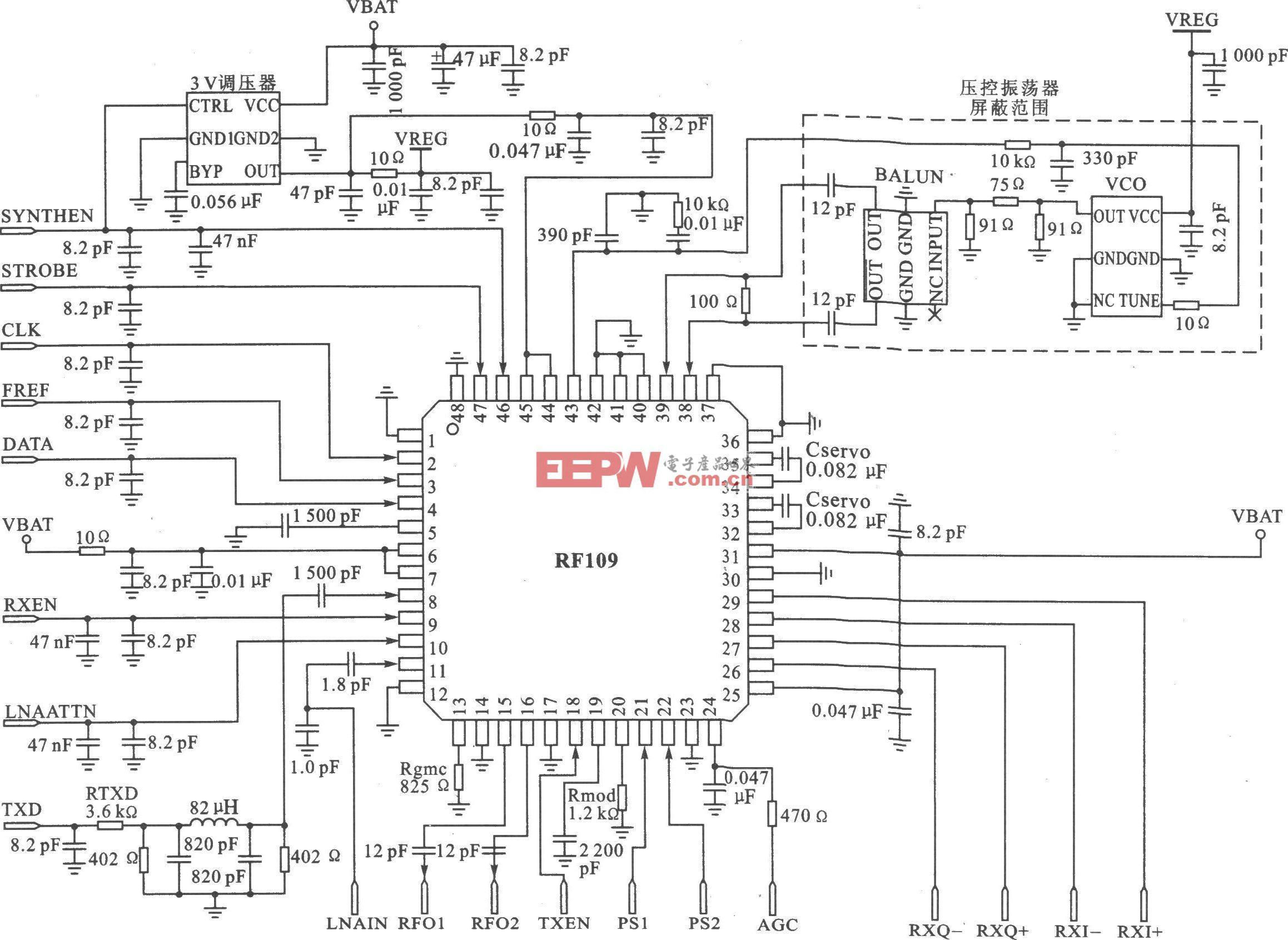 RFl09 I/Q 2.4 GHz数字扩频收发器