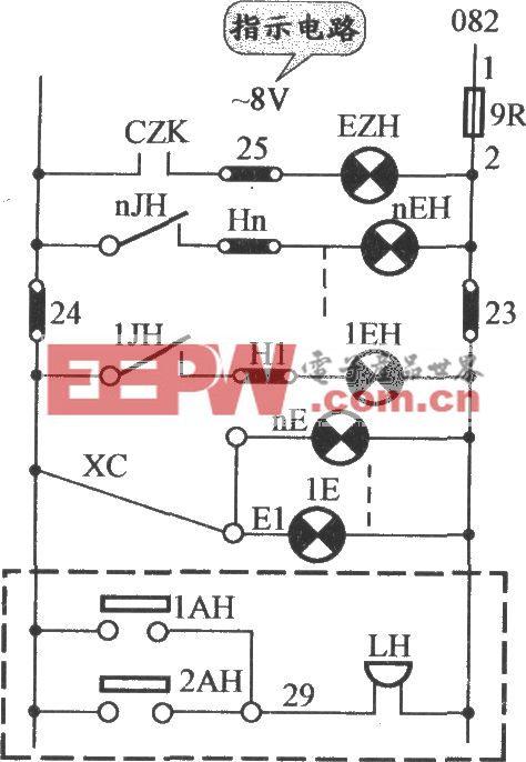 JHo-751半自动货梯按钮指示电路