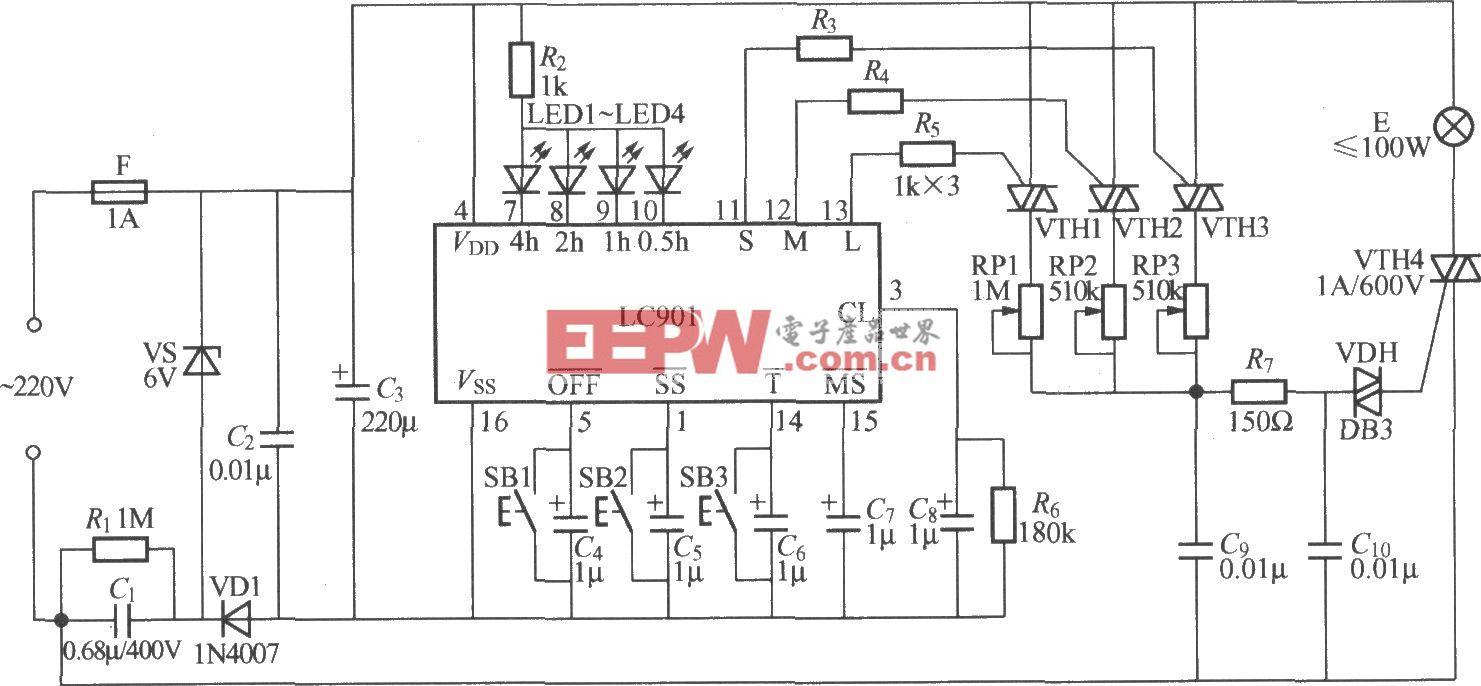 高挡步进调光灯控制器电路(1)