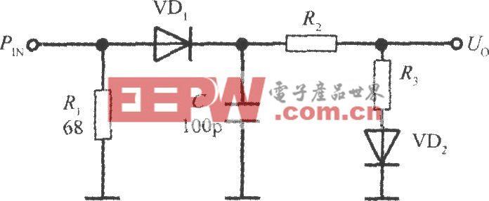 带温度补偿的二极管检测输入功率的电路