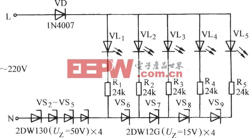 电压显示器电路