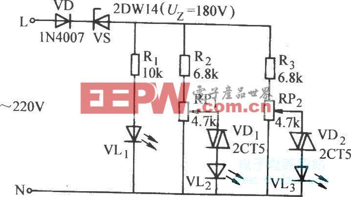 市电电压偏离指示器