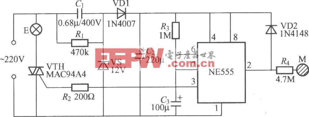 采用时基电路的触摸式延迟灯电路(1)