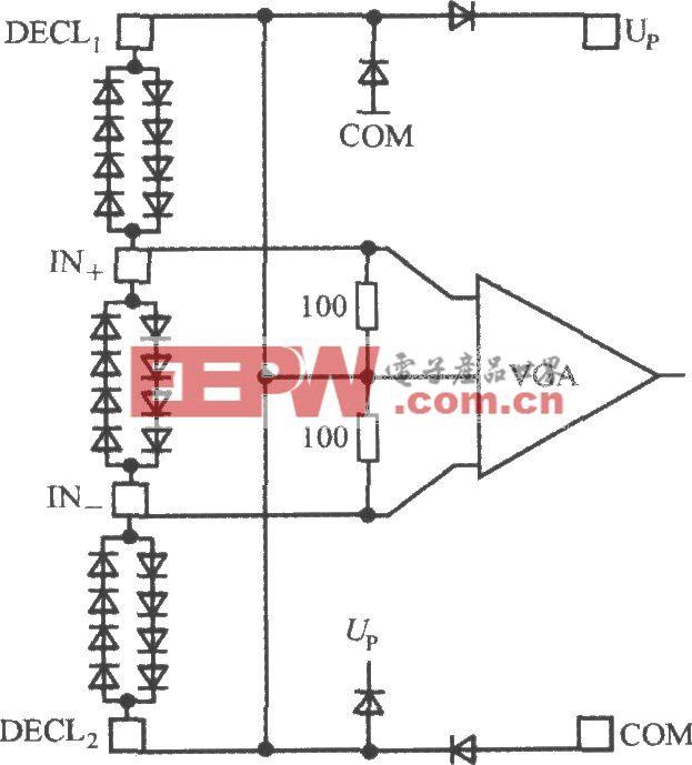 单片真有效值功率测量系统AD8362的输入保护电路