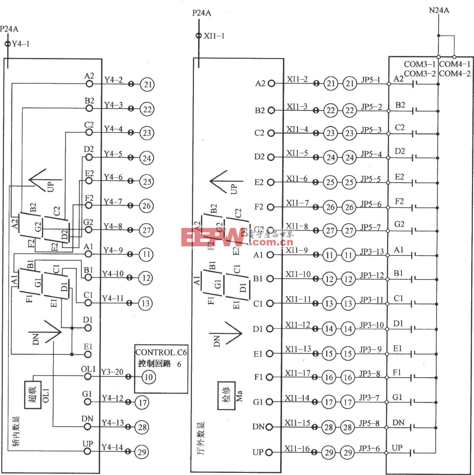日立GVF电梯楼层指示电路