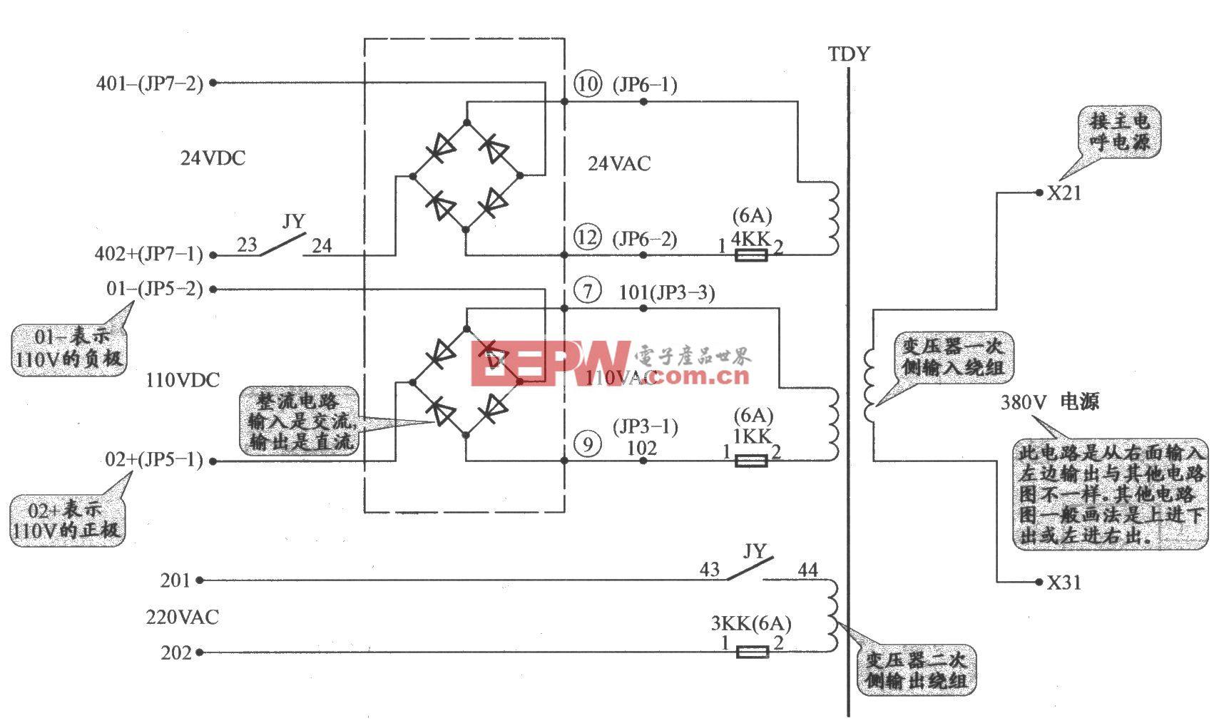 上海新时达电梯控制电源电路(PLC+变频器)