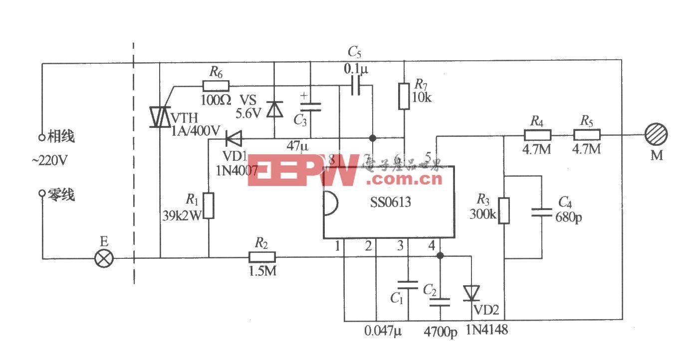 SS0613触摸式无级调光灯电路