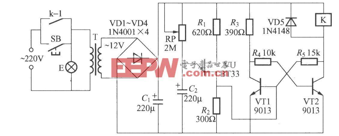 使用继电器的延迟灯电路(4)