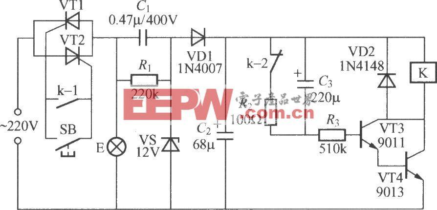 使用继电器的延迟灯电路(3)