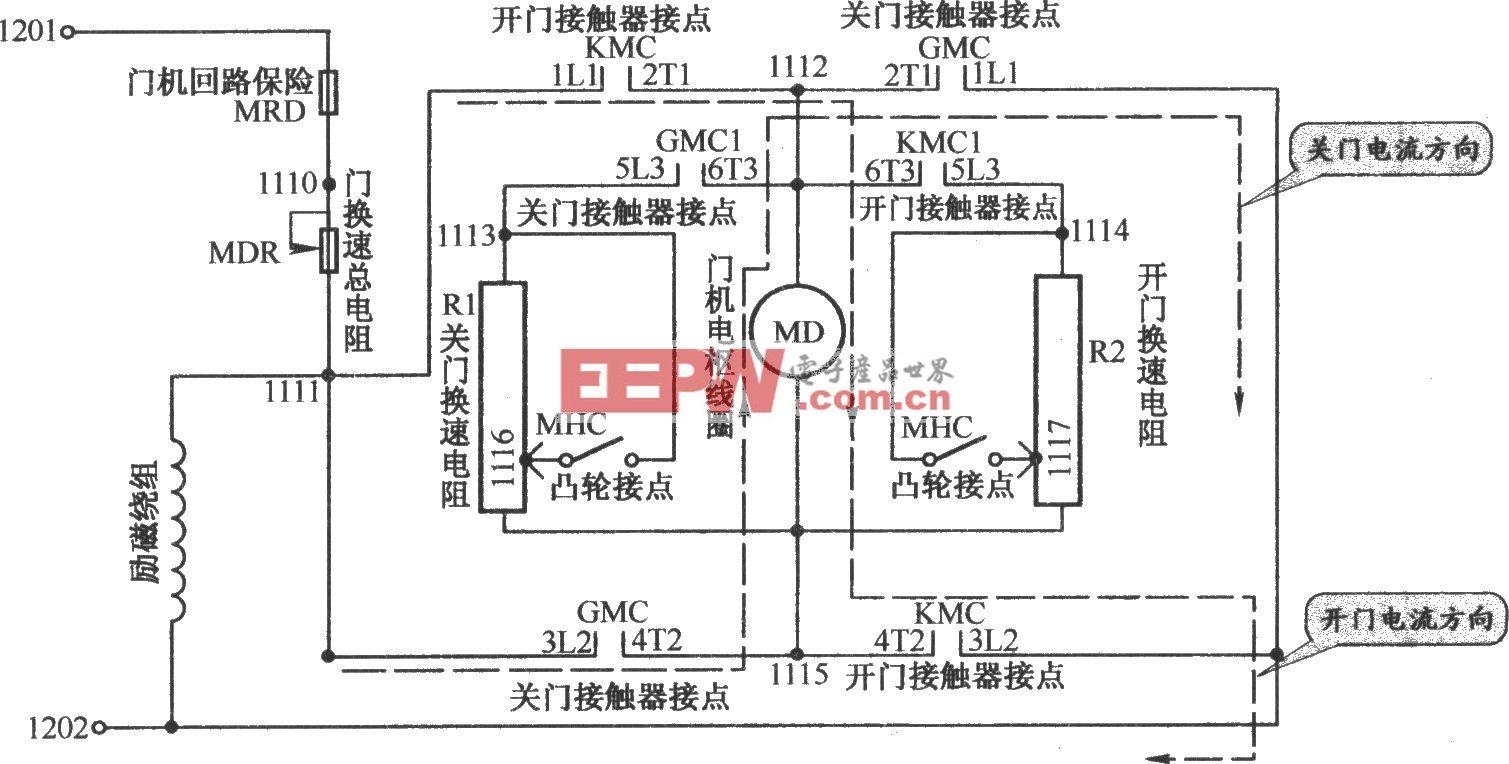 北京图捷电梯开门机电路