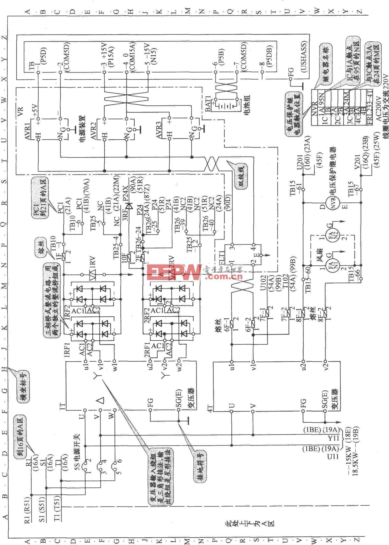 東芝CV60電梯控制電源電路
