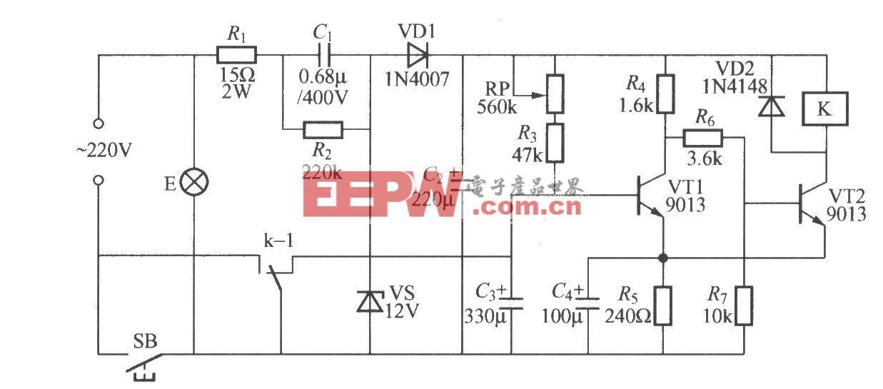 电子时间继电器电路图 -继电器