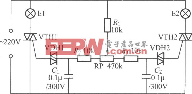 晶闸管双色调光器的电路(2)
