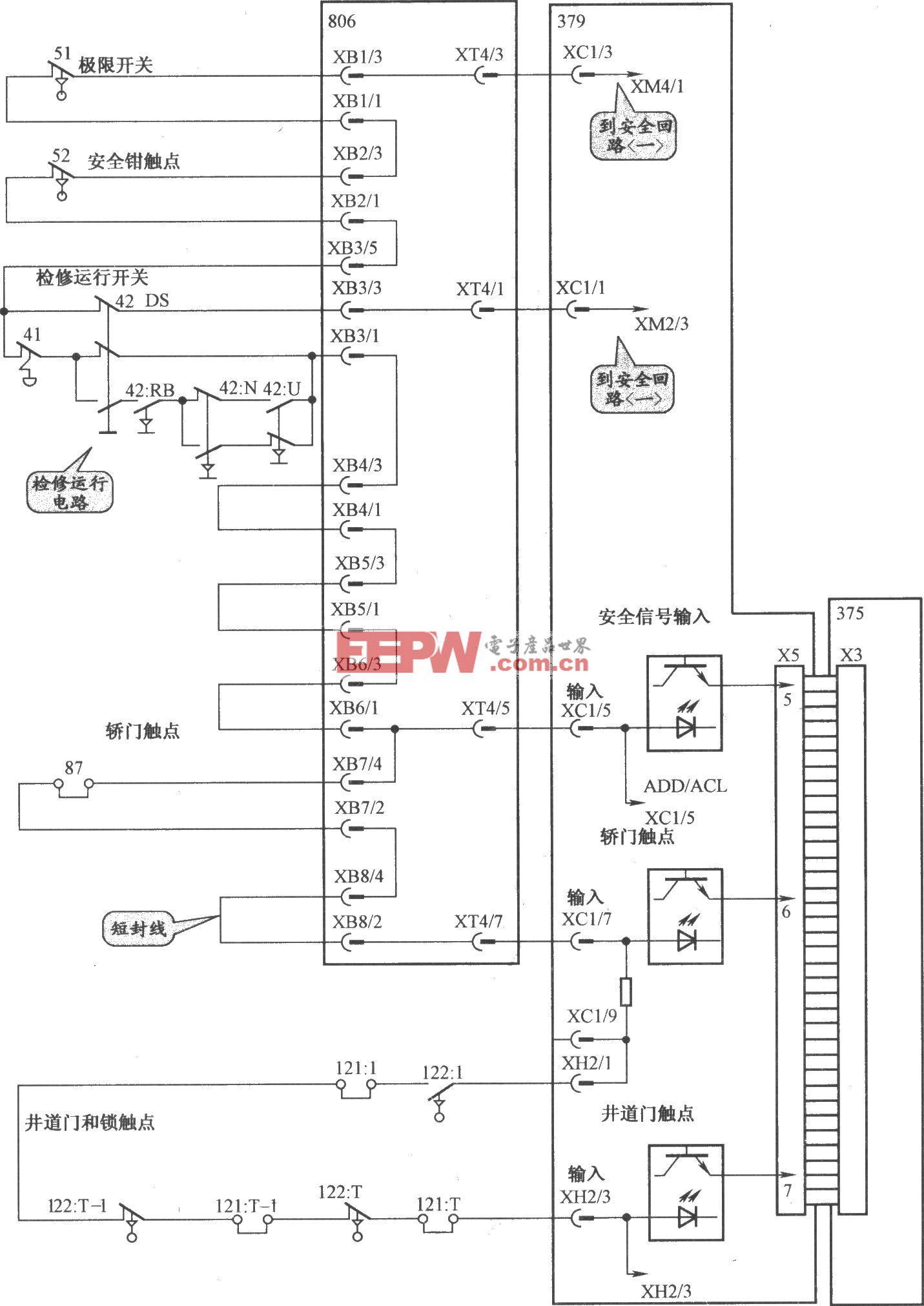 通力3000电梯安全回路电路(2)