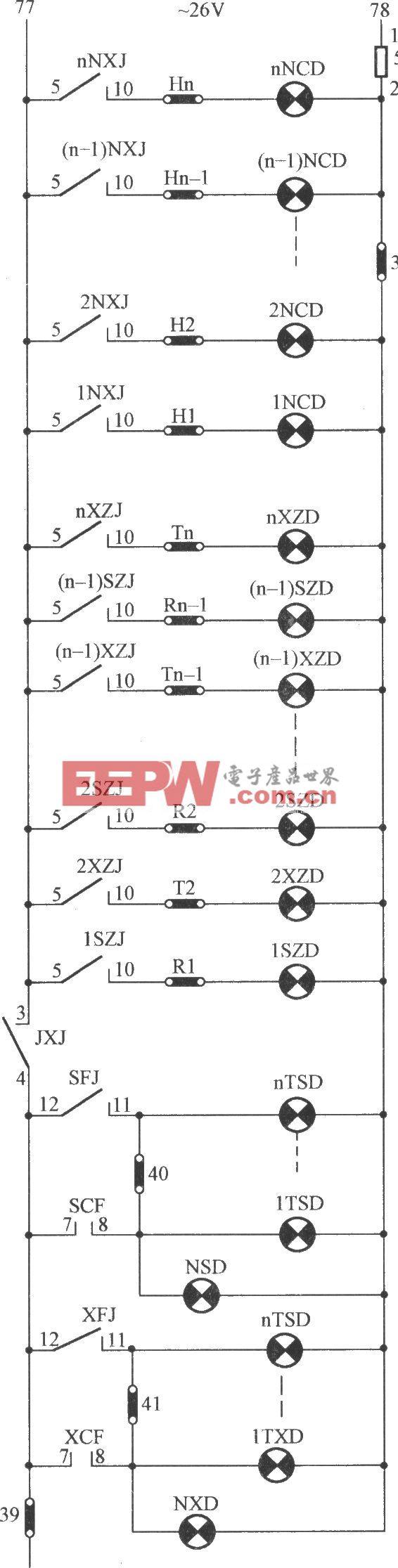 JKH1-771A電梯指示燈電路