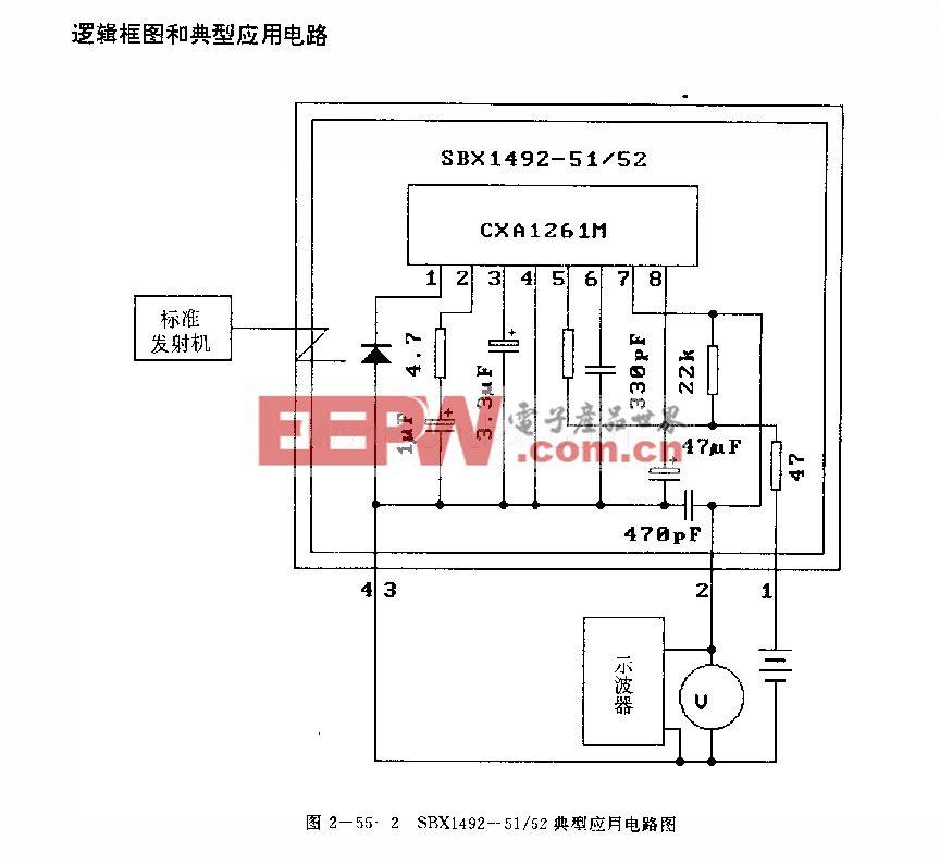 SBXl492—51/52 (电视机、录像机、音响设备、空调器和玩具)红外线遥控接收电路