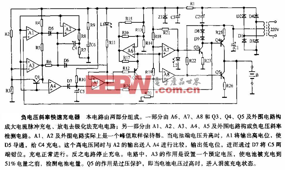 负电压斜率快速充电器