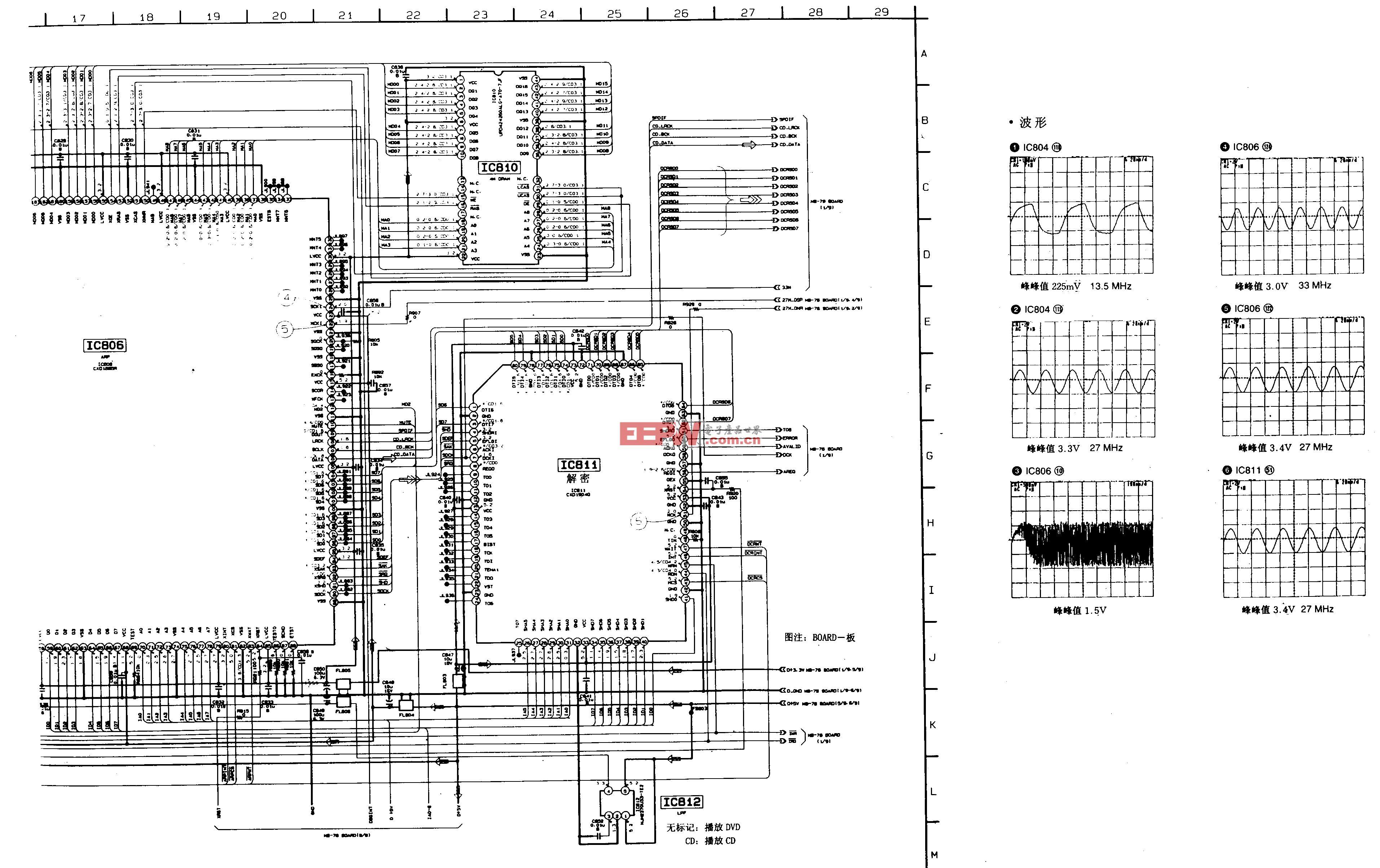 SONY DVP-S500D/S505D型DVD-系统微机,S门阵列A