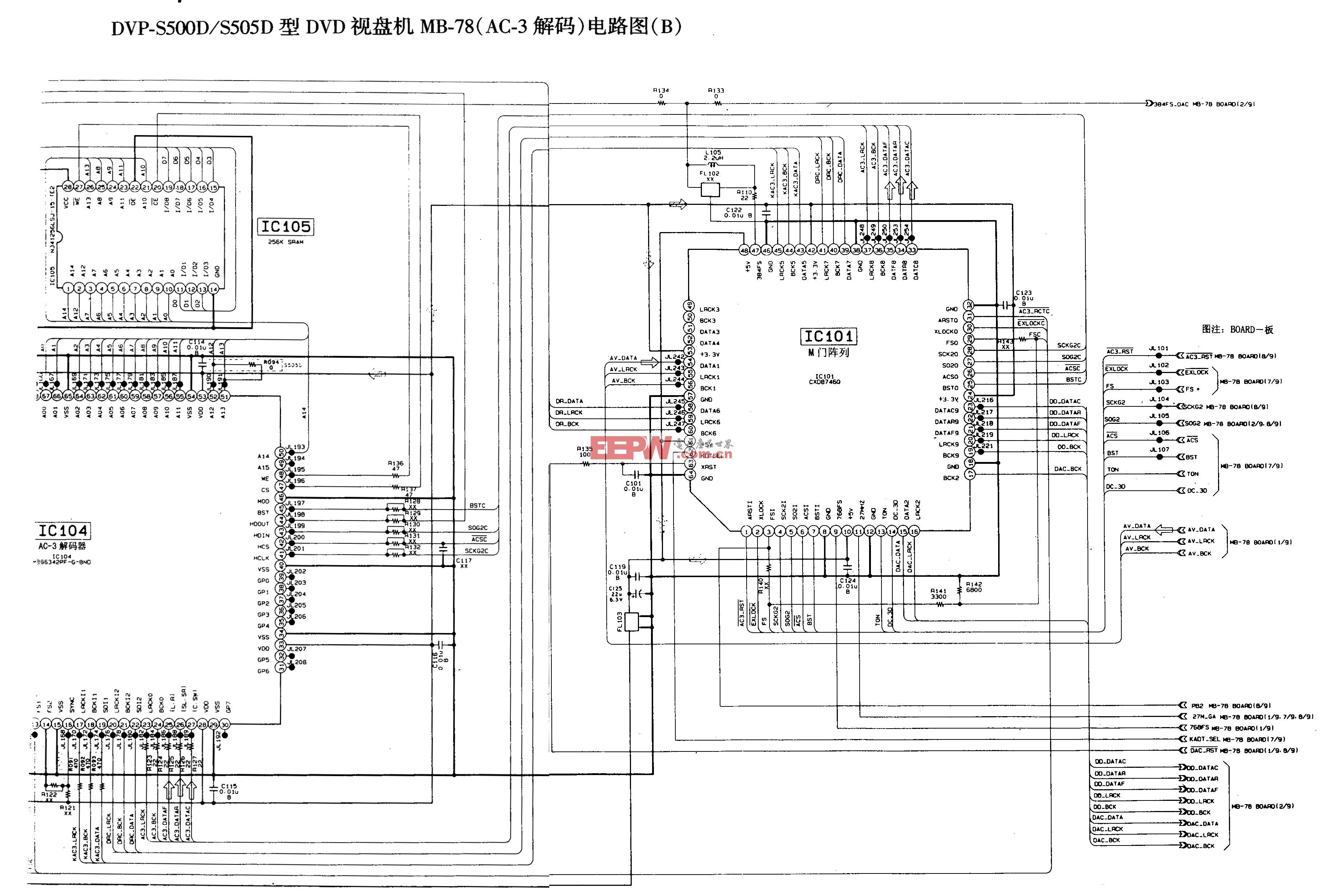 SONY DVP-S500D/S505D型DVD-AC-3解码电路图B