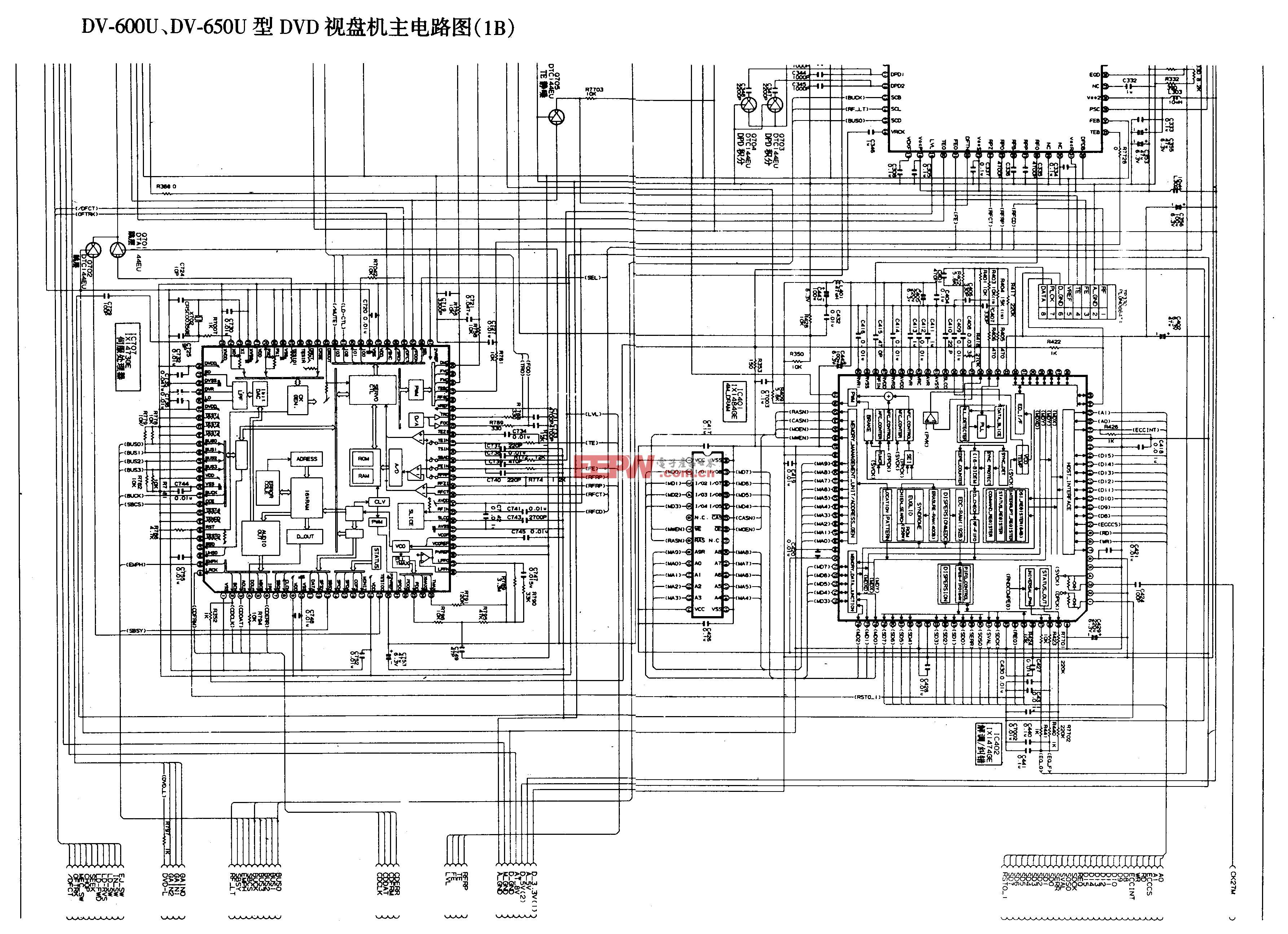 SHARP DV-600U、DV-650U型DVD-主电路图1B