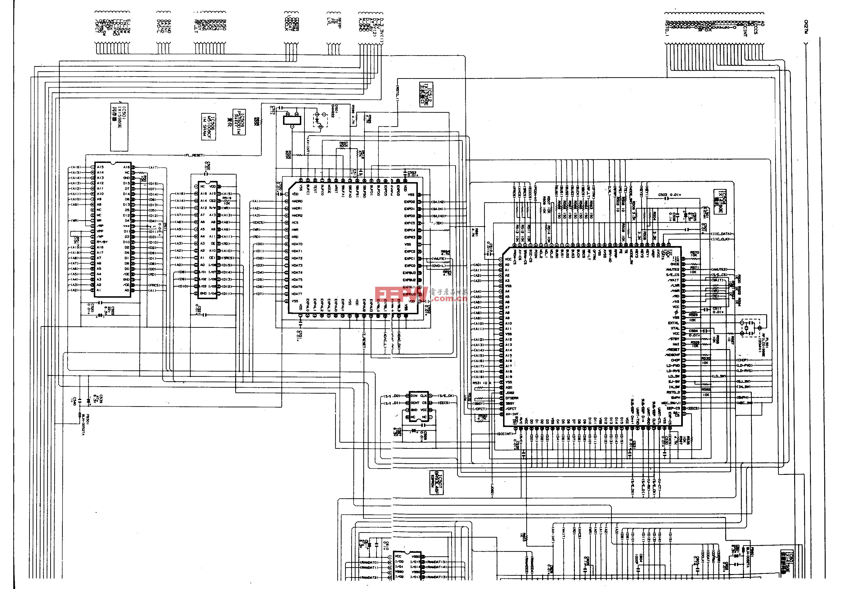 SHARP DV-600U、DV-650U型DVD-主电路图2A