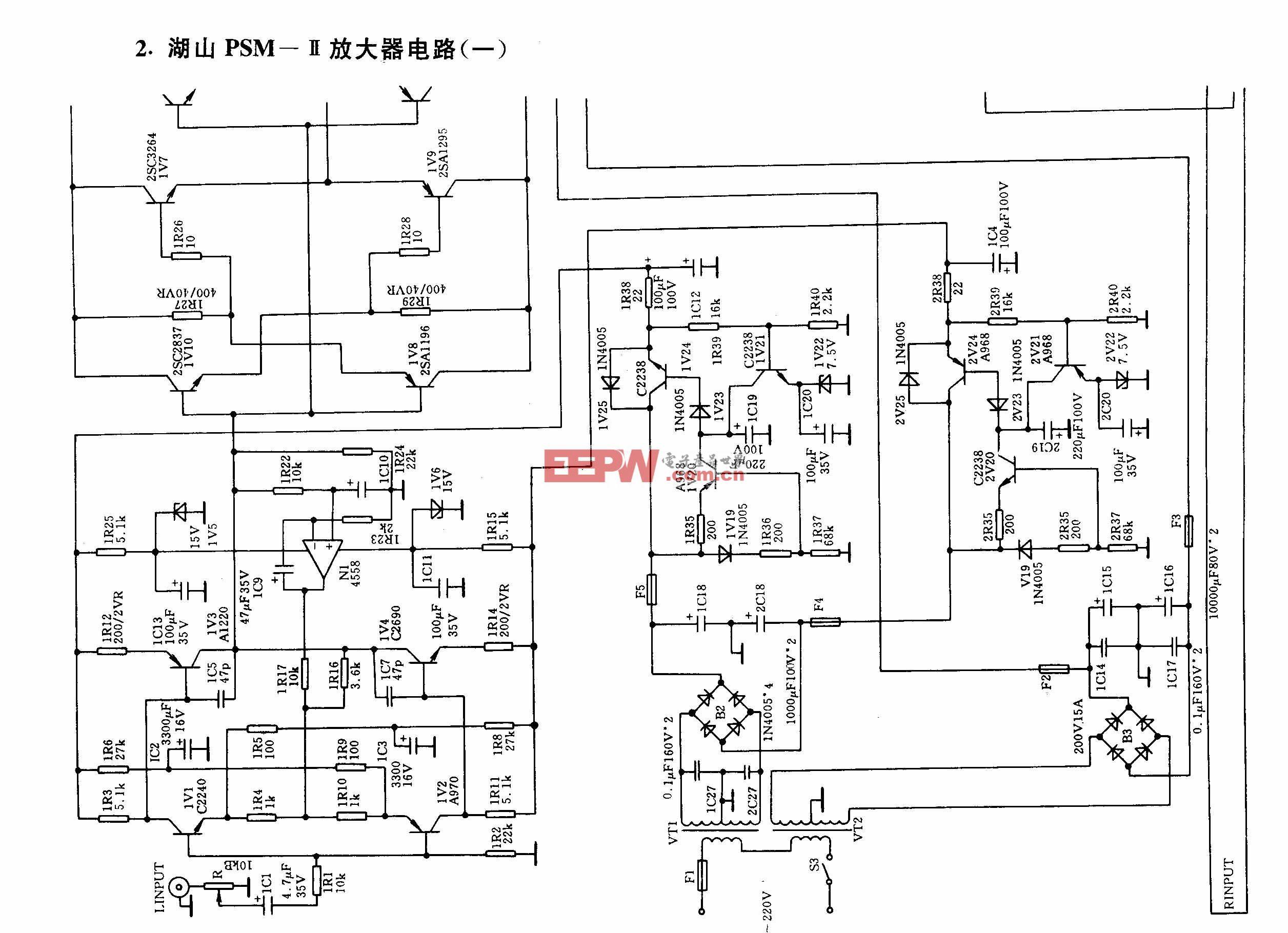 湖山PSM-II放大器电路(一)