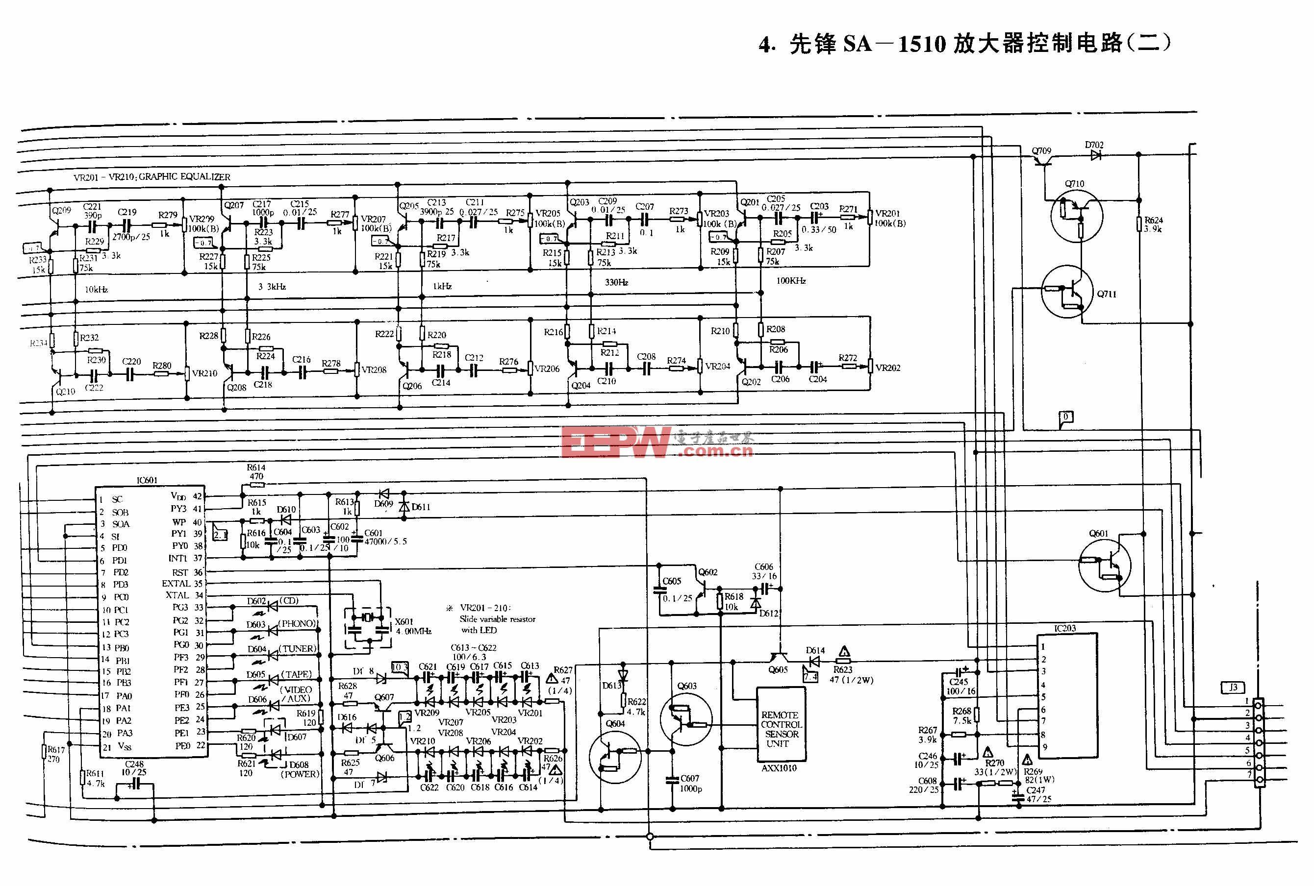 先锋SA-1510放大器控制电路(二)