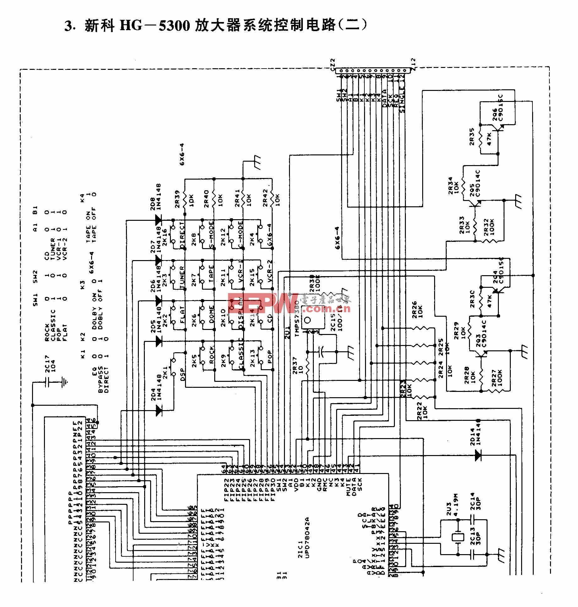 新科HG-5300放大器系统控制电路(二)