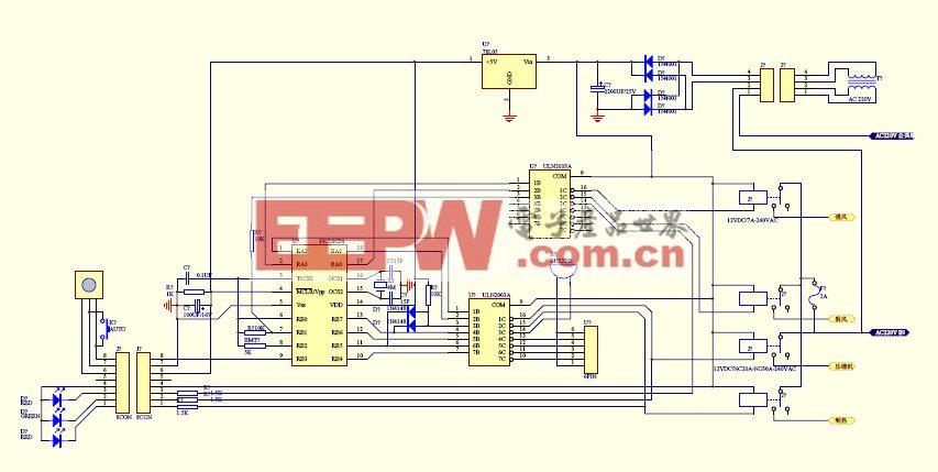 空调主控板,低成本,PIC16C54